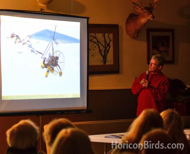Joe Duff of Operation Migration, photo by Pam Rotella